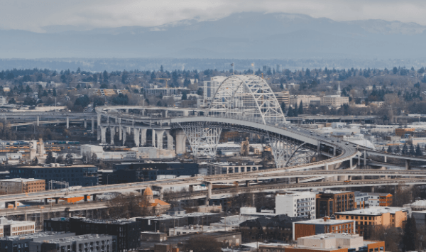 Fremont bridge in Portland